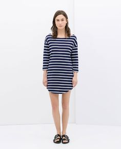 Image 1 of ORGANIC COTTON STRIPED DRESS from Zara