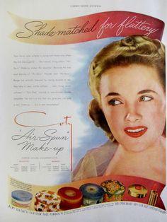 1941 Coty Air Spun Make Up Vintage Advertisement Bathroom Wall Art Beauty Salon Decor Bedroom Art Original Magazine Print Ad Paper Ephemera by RelicEclectic on Etsy