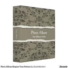 Photo Album Elegant Torn Pattern 3 Ring Binder