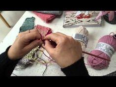 Vævestrik - sådan gør du - YouTube Knitting Charts, Knitting Stitches, Knitting Yarn, Knitting Patterns, Crochet Chart, Knit Crochet, Needlework, Diy And Crafts, Wool