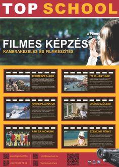 Digitális videó tanfolyam AR plakát (eredeti mérete A1)   http://www.topschool.hu/film-multimedia.php