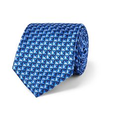 This distinguished tie is crafted by heritage menswear label <a href='http://www.mrporter.com/mens/Designers/Sulka'>Sulka</a>. Crafted in the UK, it's cut from a lustrous silk-jacquard that's woven in a dapper diamond pattern. Wear yours to give tailored looks a pop of colour.