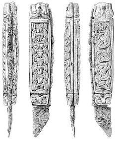 "The ""Canterbury knife"". 'Viking' design in a saxon type knife."