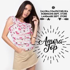 Let your ladylike charms shine in Amora Top!  It features a girly girl combo of ruffles, lace and floral print. 👌🏻  #shopping #zaloraph #philippines #fbloggersuk #fbloggers #robinsonsdeptstore #landmarkphil