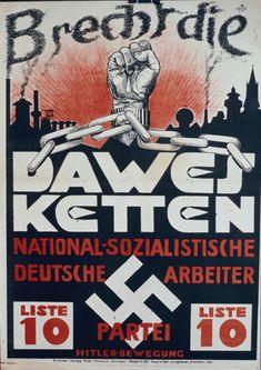 Bu afiş Almanya öder, 1929 yılında tazminat adamıştır.  Dawes pranga (- sipariş tazminat, 1924 yılında kabul edilen Dawes Planı atıfta) Breaking.  Bu plana göre, Almanya da büyük bir kredi almıştır.  Plan Almanya'ya göre çok yumuşak, ama Naziler hiç bir tazminat ödeyerek karşı idi.