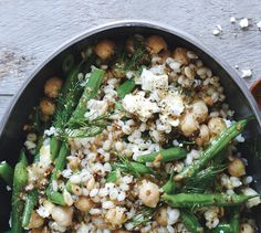 Barley has nice heft and chew, but don't feel limited—use cooked farro, quinoa, or brown rice if you prefer.