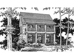 NeoClassical House Plan with 2270 Square Feet and 3 Bedrooms from Dream Home Source | House Plan Code DHSW36877