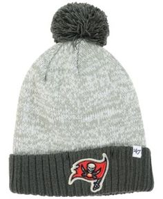 '47 Brand Tampa Bay Buccaneers Coverage Knit Hat - Gray Adjustable