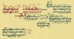 Extrait du formant : Constellation-Miroir (feuille e) de la Troisième sonate pour piano de Pierre BOULEZ Constellation, Piano, Sheet Music, Mood, Music Education, Music, Orchestra, Composers, Art History