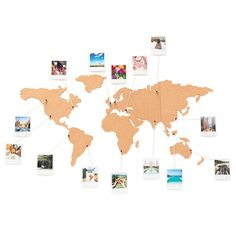 Corkboard Map is the perfect way to display photos, postcards, tickets or any travel memories by pinning on the cork map or the world. Cork World Map, Cork Map, World Map Decor, World Map Wall, World Map Pin Board, Map Wall Decor, Wall Art, Photowall Ideas, England Houses