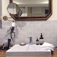 Bathroom/花/洗面台/タオル/タイル/タオル収納...などのインテリア実例 - 2016-03-24 13:46:34