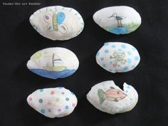 drawing on shells