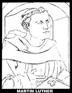 martin luther coloring pages reformation clothing | Martin Luther | Reformation Day