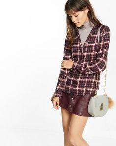 plaid pajama collar blouse