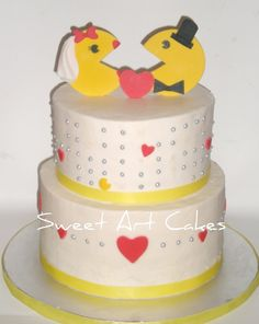 Pacman wedding cake from a local bakery. Cute and geeky!