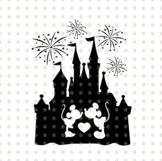Mickey Minnie Decal Disney Castle Love Sticker Window Car