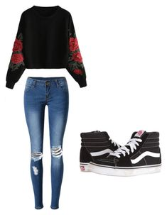 """Untitled #17"" by torimiller-ii on Polyvore featuring WithChic and Vans"