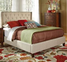 California King Upholstered Bed with Button Tufting | Coaster | Home Gallery Stores