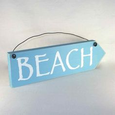 Sign  BEACH ARROW wood sign Nautical Seaside by obxcountrystore
