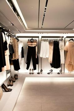 lighting. hanging clothes different directions