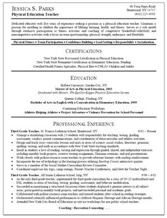 Samples Of Teacher Resume | Resume Sample For Physical Education Teacher