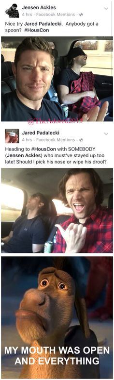 Jensen Ackles and Jared Padalecki - Supernatural Convention- Dean and Sam Winchester