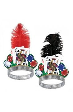 Casino Night Tiaras - Las Vegas Casino Party Ideas