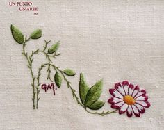 Broderie fleur. Flower embroidery