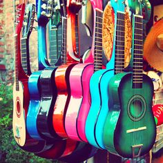 #Love the Collection of #Colorful #Guitar