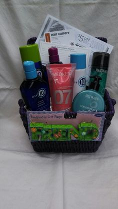 Hair product gift basket