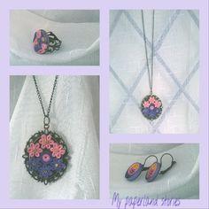 #Romantic paper jewelry set!!!! #handmade #paperjewelry #quilling #quilledjewelry #jewelryaddict #uniquegift