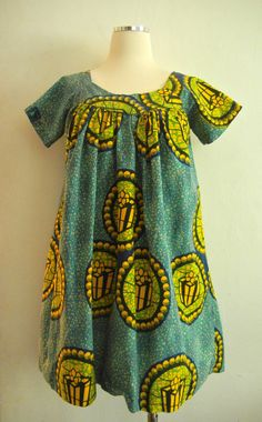 Vintage 70s Batik Baby Doll MIni Dress by papersunvintage on Etsy, $30.00