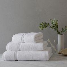 White Co - Savoy towels (White/Silver)
