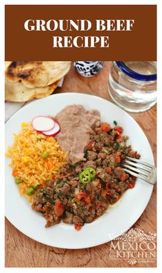 This Easy Mexican Ground Beef recipe is also quick to make; ✔️ you can make it in a matter of minutes and its packed with lots of flavors. Authentic Mexican Recipes, Mexican Food Recipes, Healthy Eating Tips, Healthy Nutrition, Healthy Recipes, Carne Molida Recipe, Burritos, Recipes With Few Ingredients, Ground Beef Recipes Easy