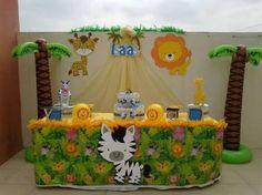 Image result for centro de mesa infantil tema safari