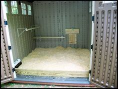 Pet Chickens: I seriously REALLY like this idea!! A shed conversion/build is probably the best option for an easy back yard chicken coop.