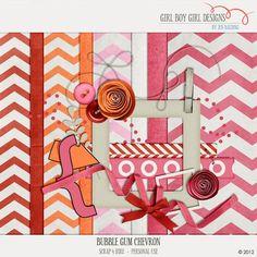 Limited time! Bubble Gum Chevron mini kit freebie from Girl Boy Girl Designs #scrapbook #digiscrap #scrapbooking #digifree #scrap