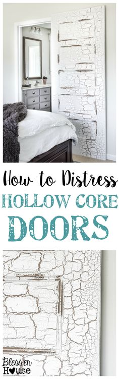 How to Distress Hollow Core Doors to Get a Chippy Paint Finish | blesserhouse.com - Finally a way to get that gorgeous chippy look on cheapo builder grade doors!