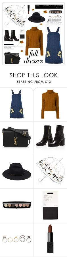 """""""Fall Fashion: Dresses"""" by mars ❤ liked on Polyvore featuring Topshop, The Gigi, Yves Saint Laurent, Marc Jacobs, John Lewis, Iosselliani, NARS Cosmetics and falldresses"""