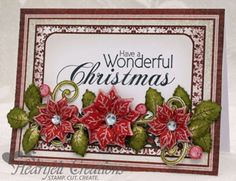 Heartfelt Creations | Wonderful Christmas Poinsettias would be nice with one large poinsettia in corner as an alternative