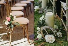 Aisle decor can add classic touch along the ground or up on the edge of each seat.