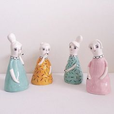 My new little loves Gorgeous 'Cigarettes and Nightgowns' ceramic ladies created by wonderfully talented artist and lady after my own heart @laurie_melia! Can't wait to meet them (and probably rearrange the living room to match)!!