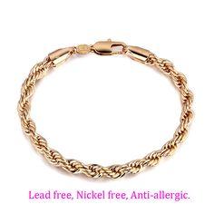 Gold Bracelets Bangles Men's Bracelet Gold Chain Joyas Pulseira Masculina Ouro Pulseras Brazalete de Oro Men Jewelry BR04