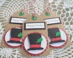 Snowman tags Christmas tags Christmas gift by chucklesandcharms, $4.00