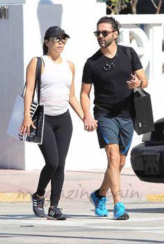 Eva Longoria y José Bastón, la imagen más deportiva de la pareja en Miami