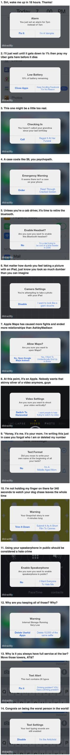 These funny iPhone notifications do not exist yet, but probably should.