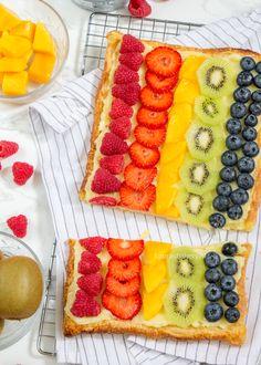 Bladerdeeg plaattaart met fruit - Laura's Bakery