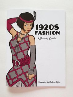1920s FASHION Adult Coloring Book