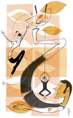 More Donna Grethen Storytelling, Yoga, Illustration, Illustrators, Illustrations, Yoga Sayings, Character Illustration