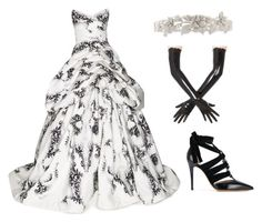 """Gothic wedding gown"" by ale-pink5 ❤ liked on Polyvore featuring Monique Lhuillier and Valentino"